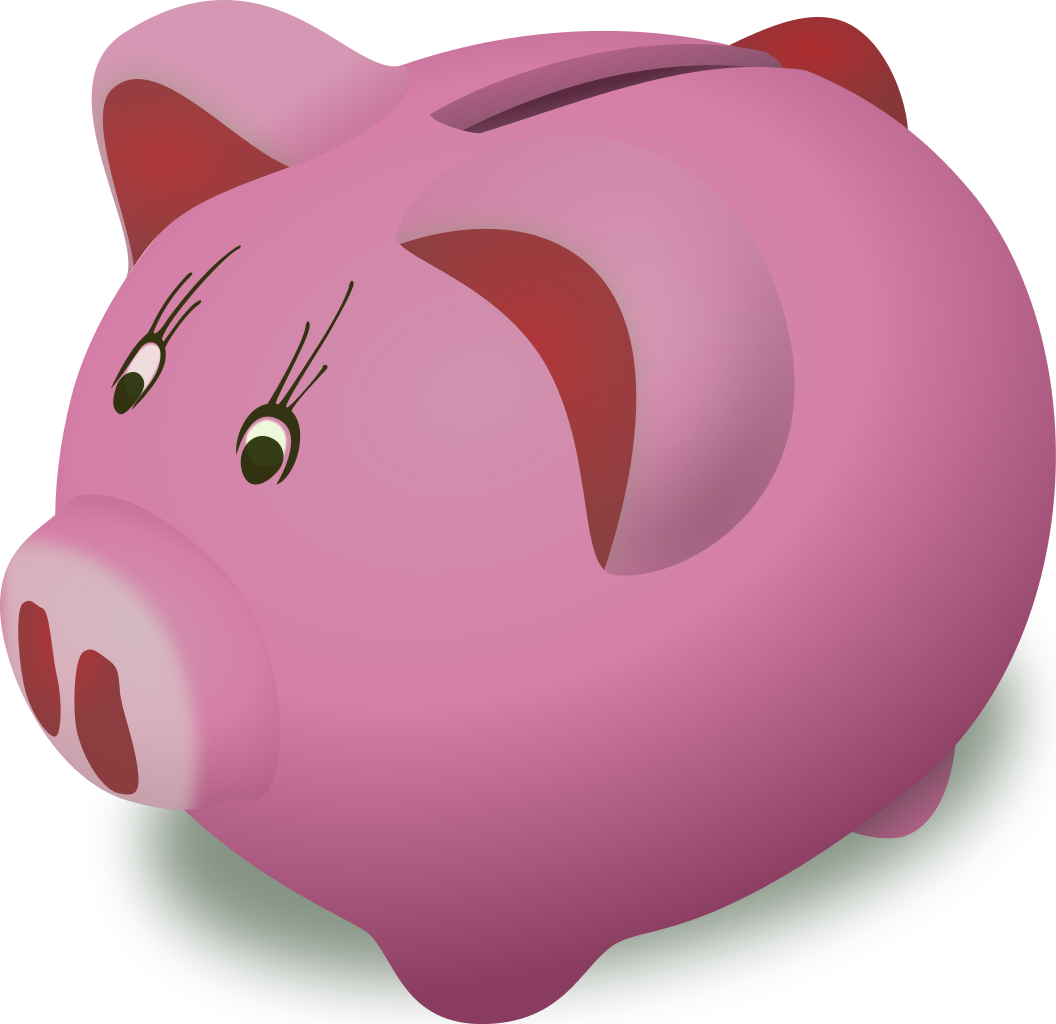 Clipart of bank vector library File:Open Clip Art Library Piggy Bank.svg - Wikipedia vector library
