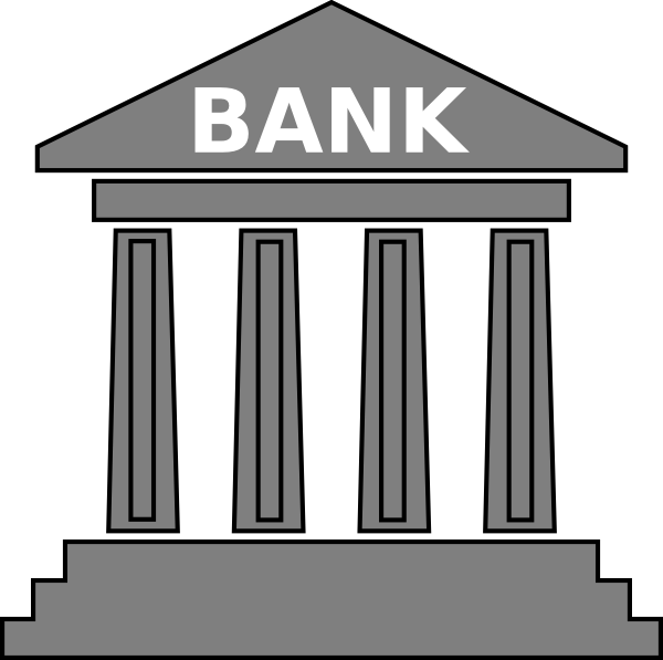 Bank clipart pictures banner royalty free stock Bank Gray Clip Art at Clker.com - vector clip art online, royalty ... banner royalty free stock