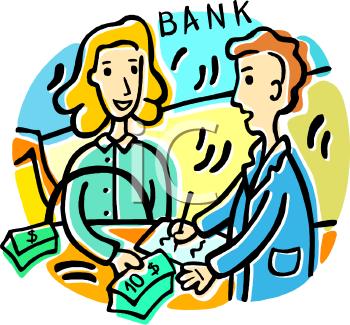 Bank customer clipart clipart transparent stock Cartoon Bank Teller Clipart - Clipart Kid clipart transparent stock
