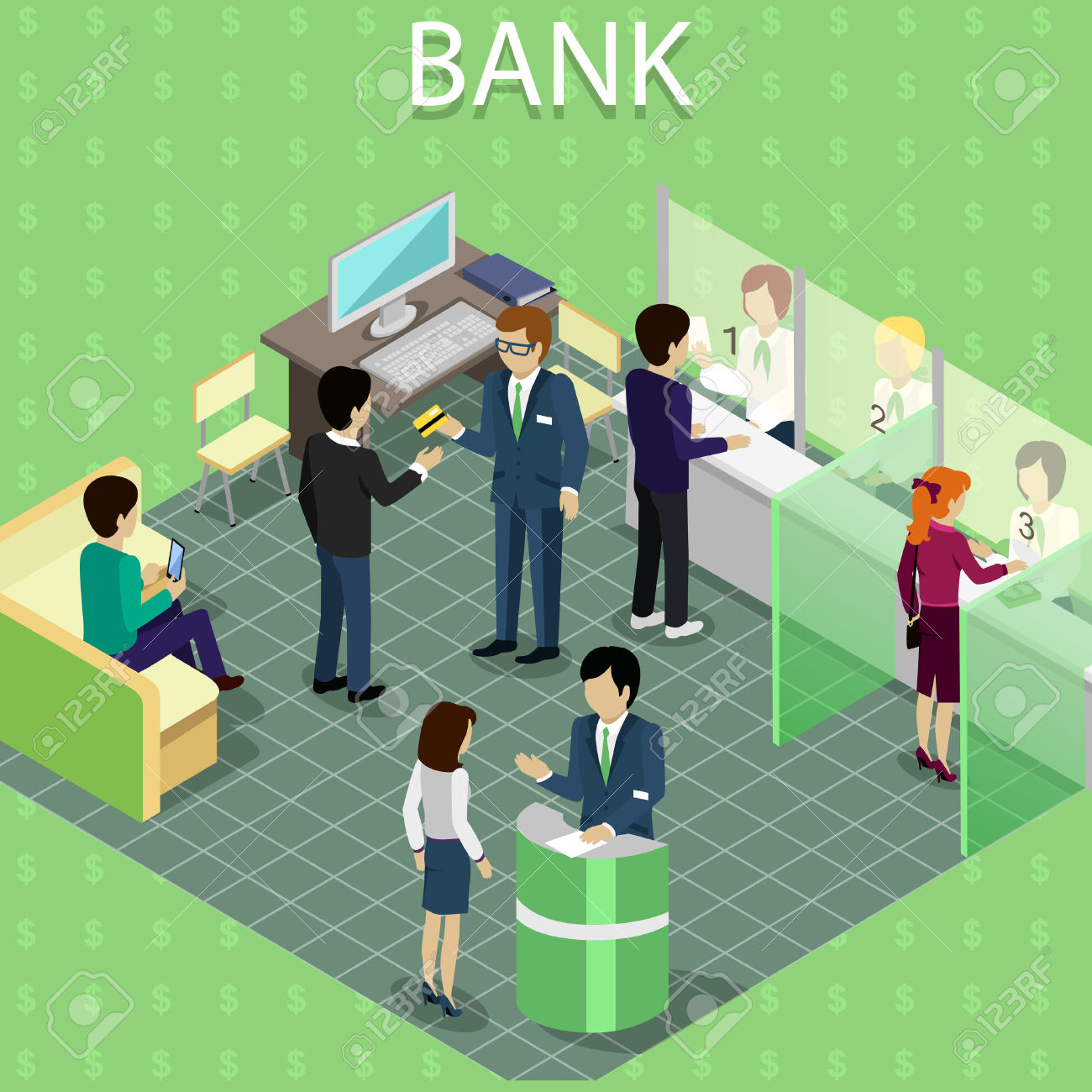 Bank customer service clipart graphic free download 289,976 Bank Stock Vector Illustration And Royalty Free Bank Clipart graphic free download
