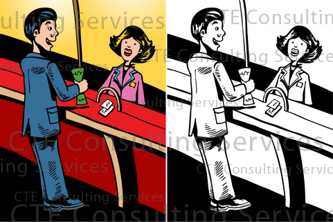 Bank customer service clipart vector freeuse The World's Best Photos of book and finances - Flickr Hive Mind vector freeuse