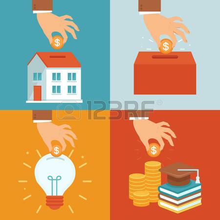 Bank deposit clipart.  stock illustrations cliparts