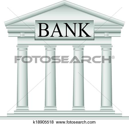 Bank icon clipart banner free Clip Art of Bank icon k18905518 - Search Clipart, Illustration ... banner free