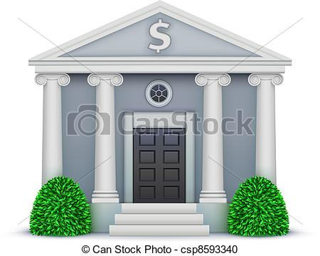Bank icon clipart image free Vector Clipart of bank icon - Vector illustration of cool detailed ... image free