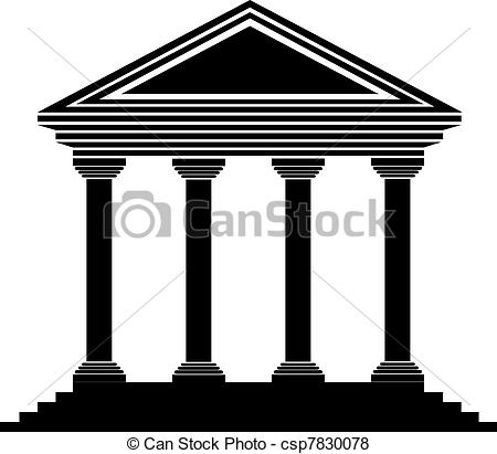 Bank icon clipart picture freeuse stock Vector of Bank icon on white background - vector csp7830078 ... picture freeuse stock