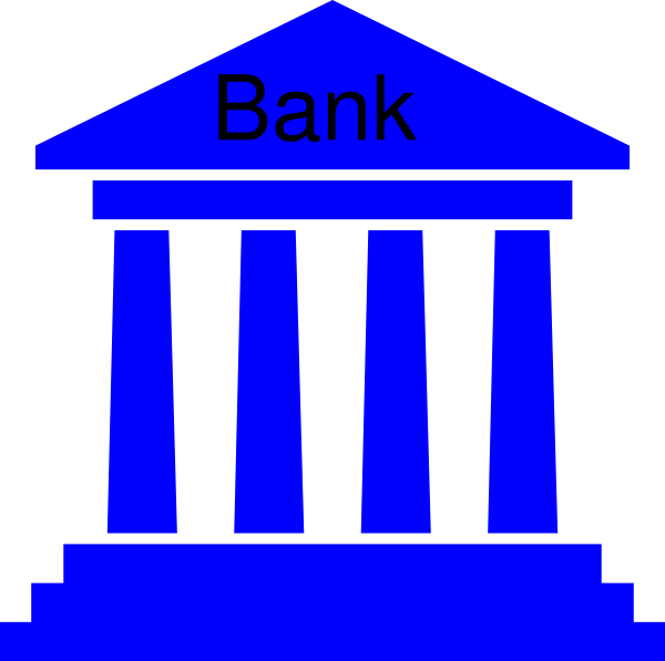 Bank icon clipart picture freeuse library Government Bank Blue Clip Art at Clker.com - vector clip art ... picture freeuse library