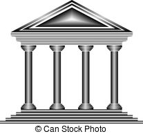 Bank icon clipart royalty free stock Vector Clipart of Metal bank icon on white background - vector ... royalty free stock