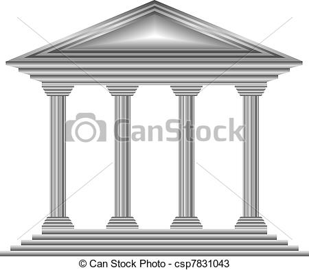 Bank icon clipart clipart library download Vectors of Metal bank icon on white background - vector csp7831043 ... clipart library download