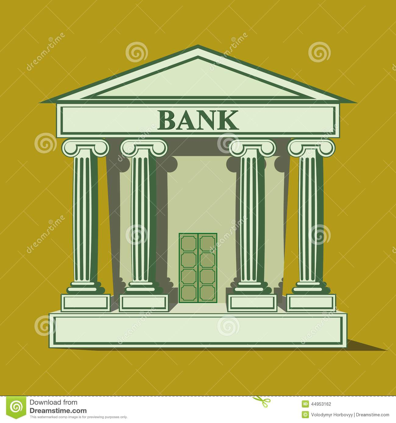 Bank icon clipart banner freeuse library Flat Bank Icon. Stock Vector - Image: 44953162 banner freeuse library
