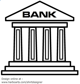 Banks in clipart clipart freeuse library Bank clip art | Clipart Panda - Free Clipart Images clipart freeuse library