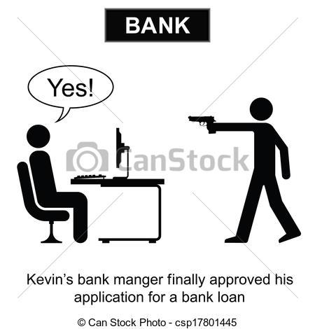 Bank loan clipart freeuse library EPS Vector of Bank Loan - Kevin finally got his bank loan cartoon ... freeuse library
