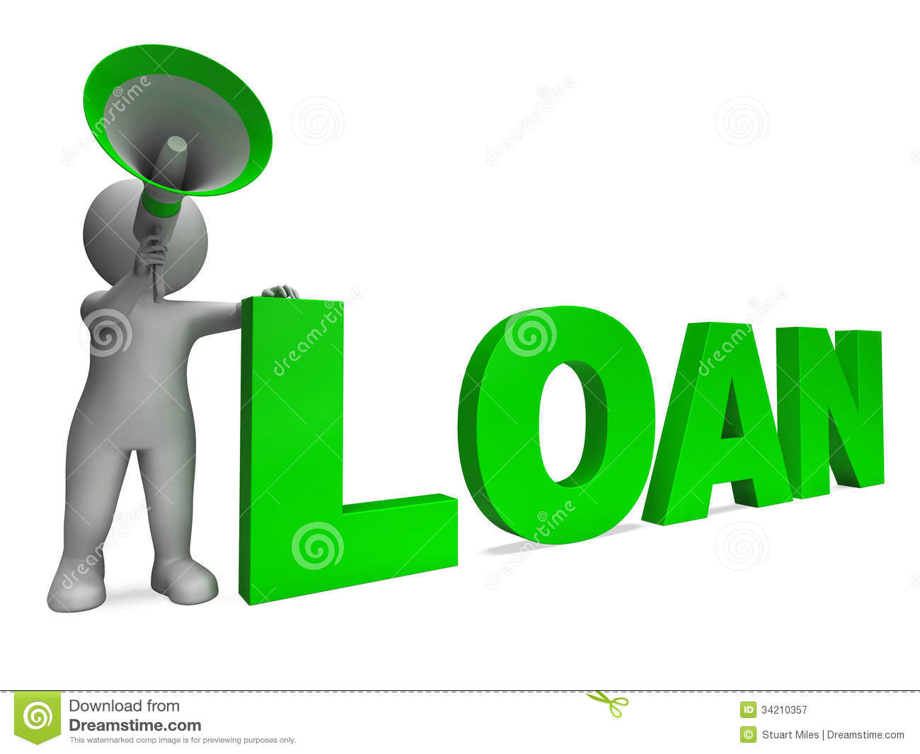 Bank loan clipart clip art black and white library Loan Character Shows Bank Loans Mortgage Royalty Free Stock ... clip art black and white library