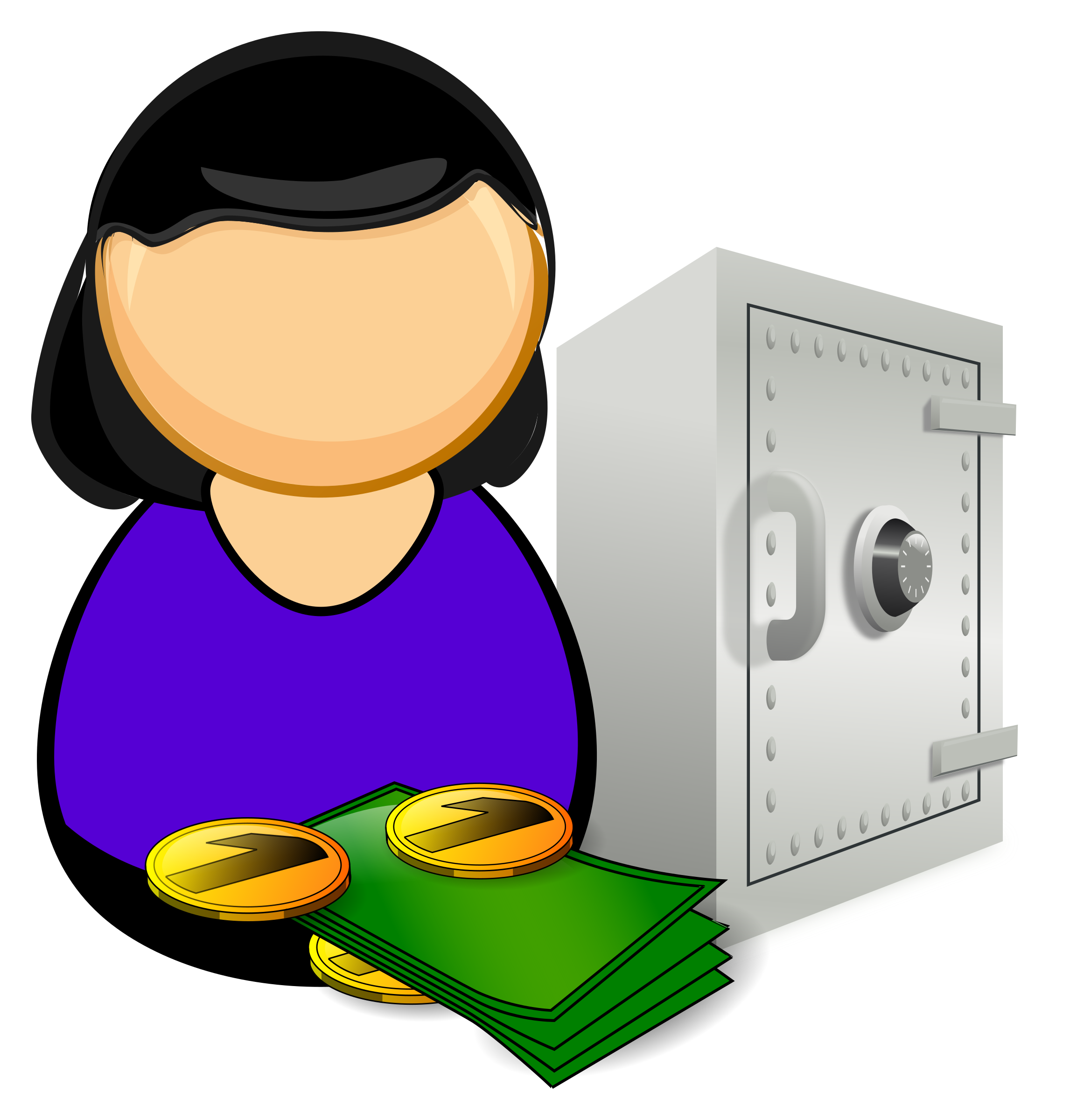 Bank money clipart clipart library stock Accountant / bank officer Icons PNG - Free PNG and Icons Downloads clipart library stock