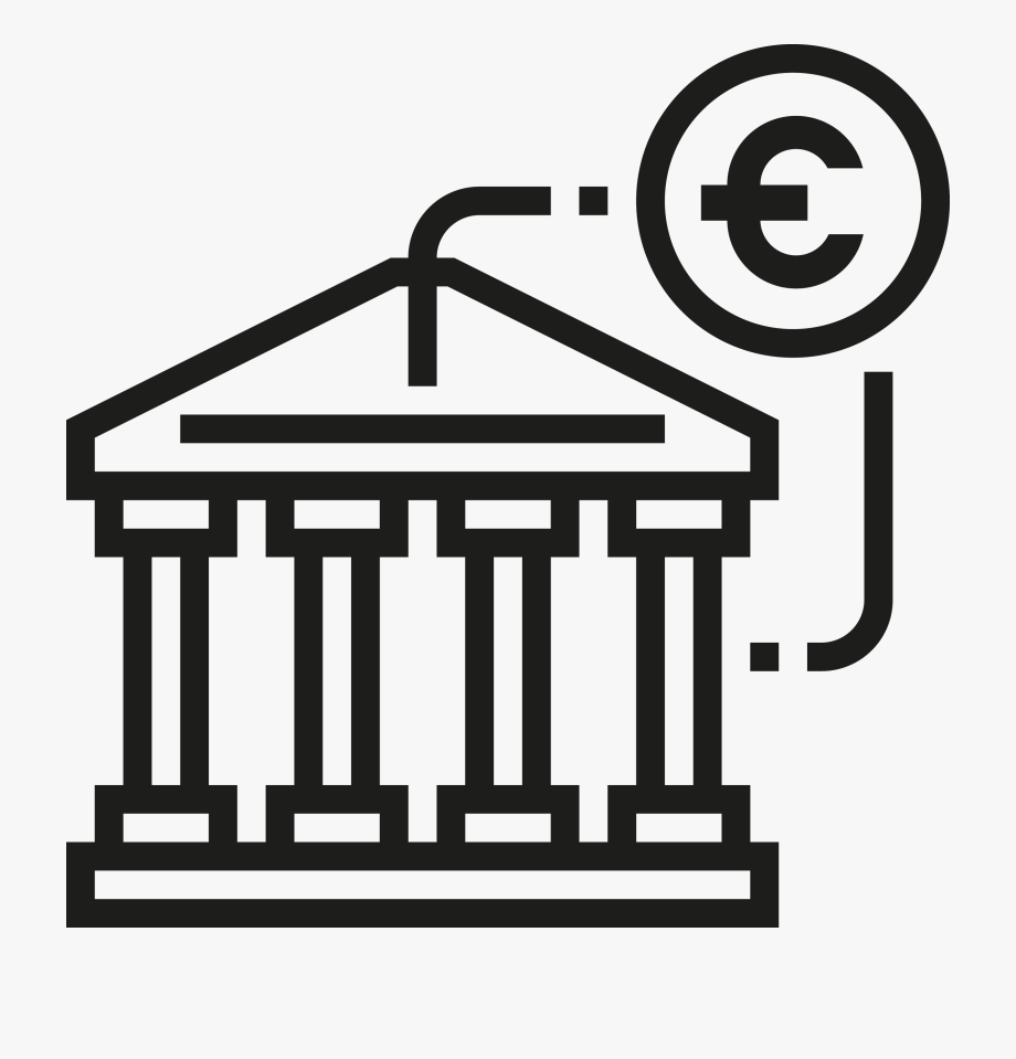 Bank of ghana clipart vector black and white download Bank Png Image File - Core Banking System Icon #354962 - Free ... vector black and white download