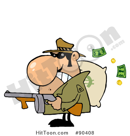 Bank robber clipart graphic royalty free download Gangster Clipart #19356: Bank Robber Carrying a Money Bag Full of ... graphic royalty free download