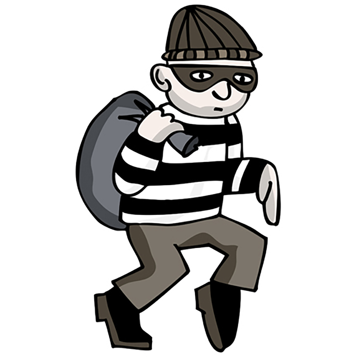 Bank robber clipart free svg Robber arrives too early at bank, held svg