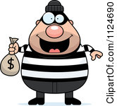 Bank robber clipart free picture library Clipart Dog Robbing A Bank - Royalty Free Vector Illustration by ... picture library