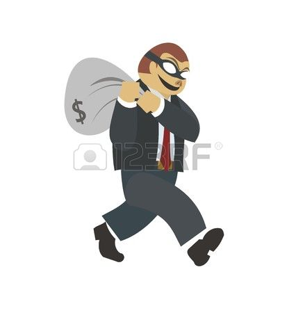 cliparts stock vector. Bank robber clipart free
