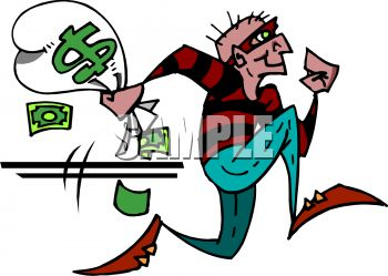 Clipartfest running away with. Bank robber clipart free