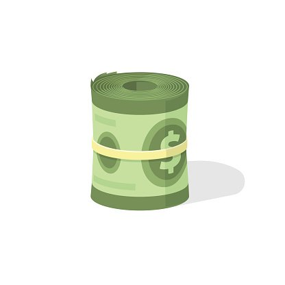 Bank roll clipart clipart free stock Money Roll 3d Vector Icon, Bankroll Dollar Bill Rolled premium ... clipart free stock