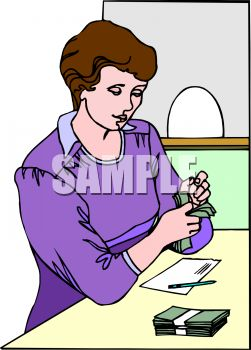 Bank teller clipart free image black and white stock Bank Teller Clip Art – Clipart Free Download image black and white stock