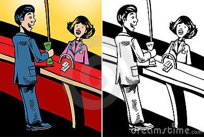 Bank teller clipart free transparent Bank Teller Stock Illustrations – 515 Bank Teller Stock ... transparent