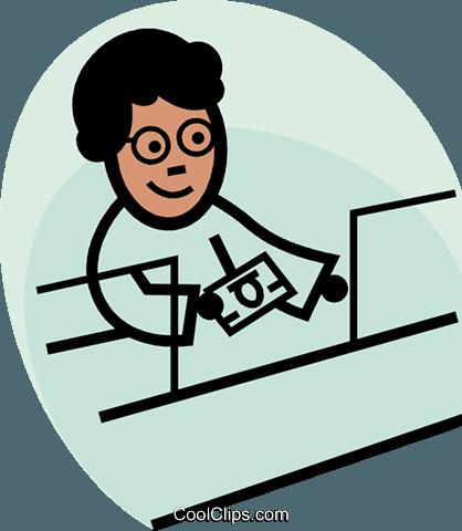Bank teller clipart free png freeuse download bank teller Royalty Free Vector Clip Art illustration -vc074908 ... png freeuse download