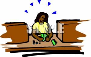 Bank teller clipart free png transparent Cartoon Bank Teller Clipart - Clipart Kid png transparent