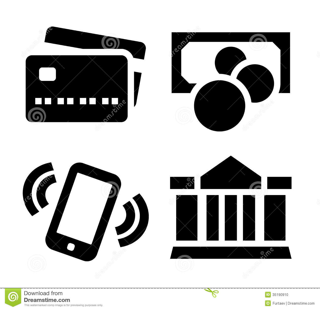 Bank transfer clipart svg freeuse Payment Icon Set Stock Photo - Image: 35190910 svg freeuse