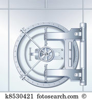 Bank vault clipart picture black and white stock Bank vault Clipart EPS Images. 1,862 bank vault clip art vector ... picture black and white stock