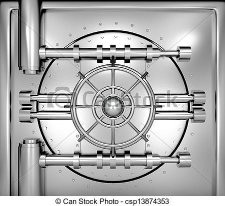 Bank vault clipart jpg royalty free stock Stock Illustrations of illustration of bank vault door, front view ... jpg royalty free stock