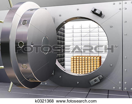 Bank vault clipart banner freeuse stock Pictures of Bank vault k0321368 - Search Stock Photos, Images ... banner freeuse stock