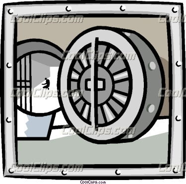 Bank vault clipart svg free library business bank vault Vector Clip art svg free library