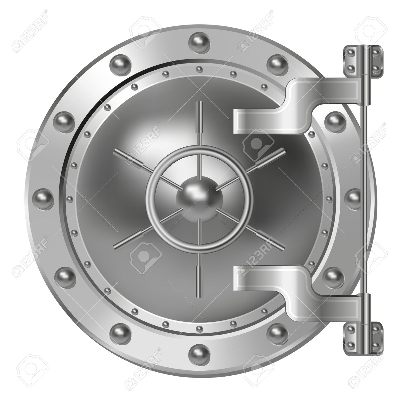 Bank vault door clipart banner black and white library Bank Vault Door Royalty Free Cliparts, Vectors, And Stock ... banner black and white library