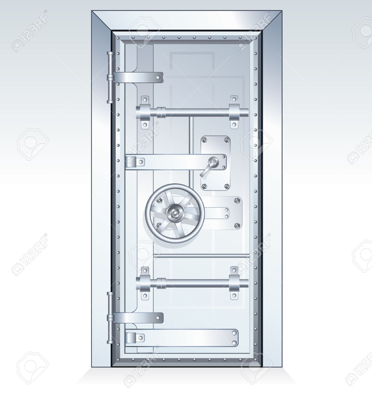 Bank vault door clipart image transparent library Bank Vault Door - Scalable Vector Illustration Royalty Free ... image transparent library