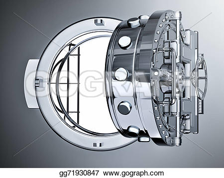 Bank vault door clipart banner library library Stock Illustration - Open bank vault door. Clipart Illustrations ... banner library library