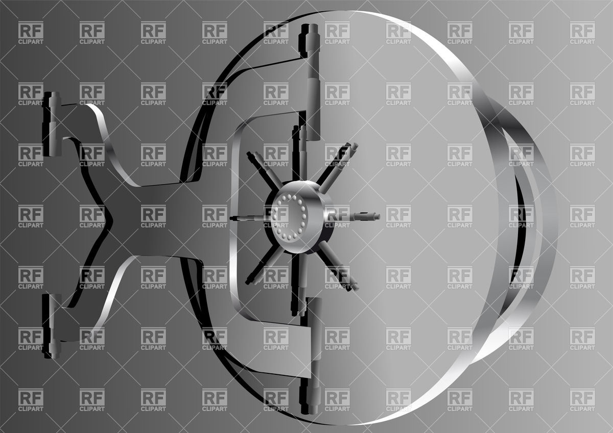 Bank vault door clipart banner royalty free download Bank vault door Vector Image #38656 – RFclipart banner royalty free download