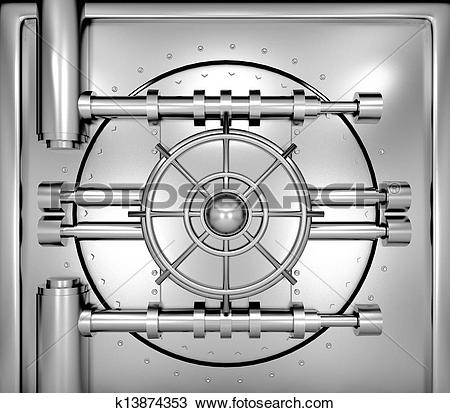 Bank vault door clipart clipart free library Drawing of illustration of bank vault door, front view k13874353 ... clipart free library