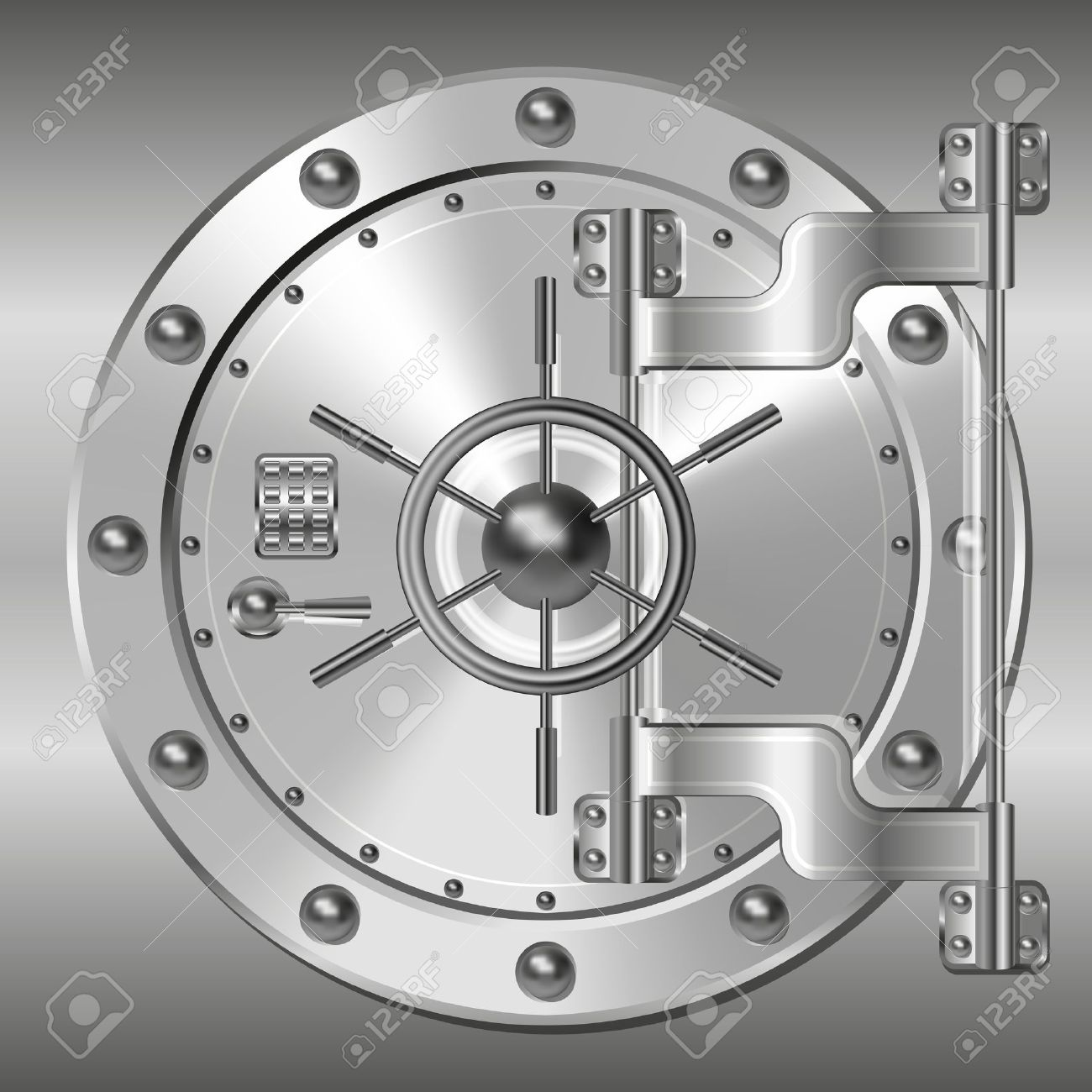 Bank vault door clipart jpg library download Bank Vault Door Royalty Free Cliparts, Vectors, And Stock ... jpg library download