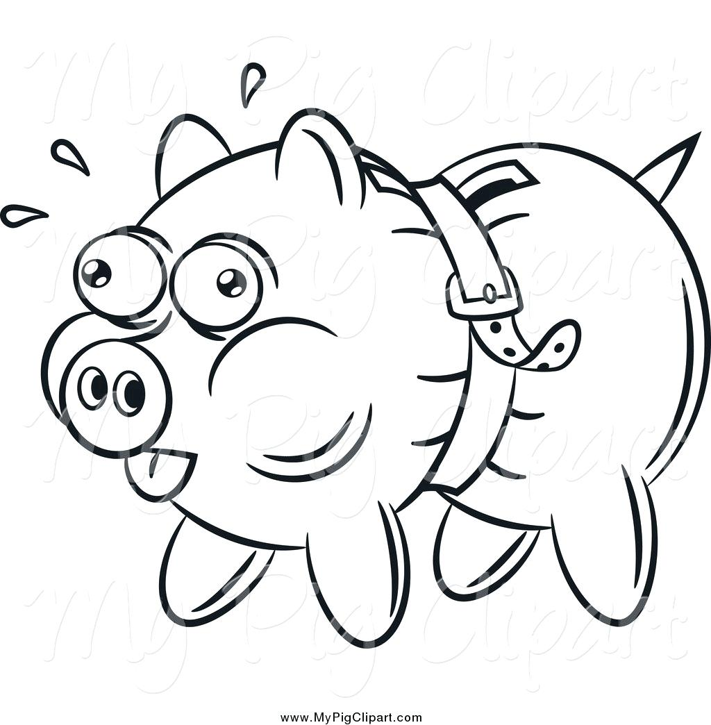 Banker clipart coloring clip art black and white library coloring page piggy bank – regionpaper.co clip art black and white library