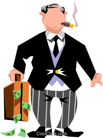 Banker clipart illustration vector library Banker Royalty Free Vector Clip Art illustration -peop1629-CoolCLIPS.com vector library