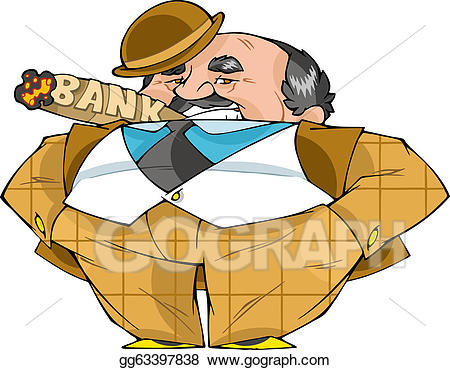 Banker clipart illustration vector freeuse stock EPS Vector - Banker. Stock Clipart Illustration gg63397838 - GoGraph vector freeuse stock
