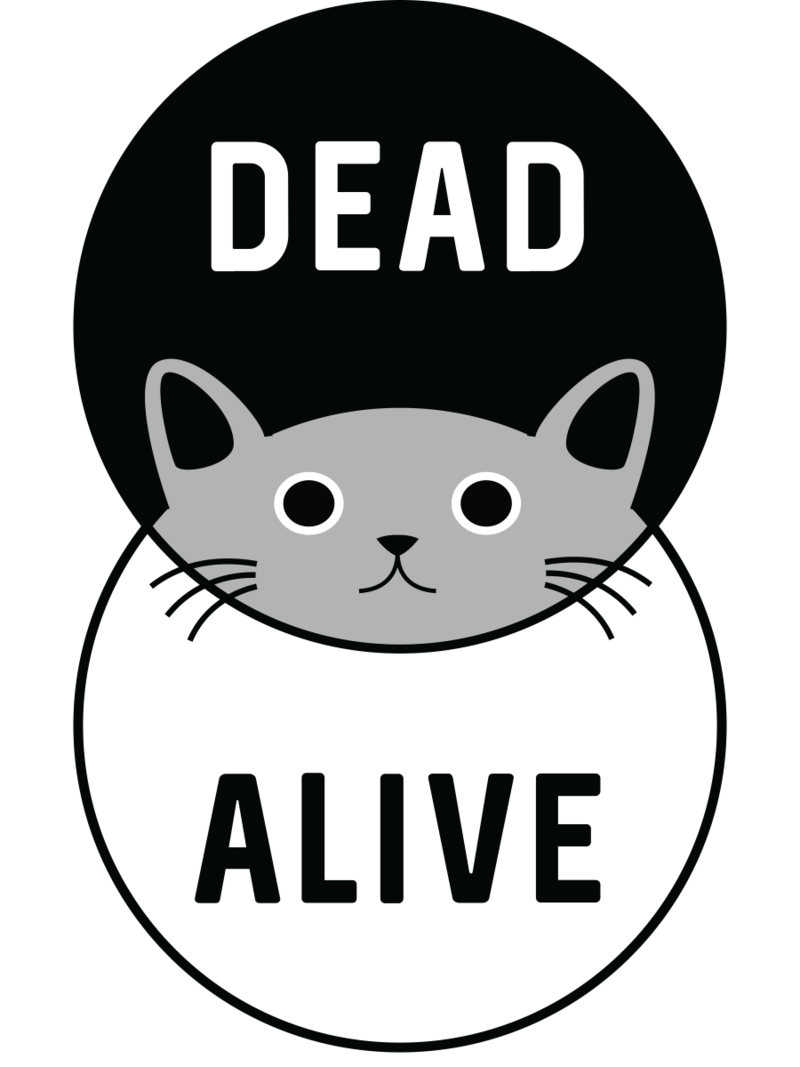 Banksy clipart cat png free library Schrodinger's Cat: Dead or Alive – Tee Fury LLC png free library