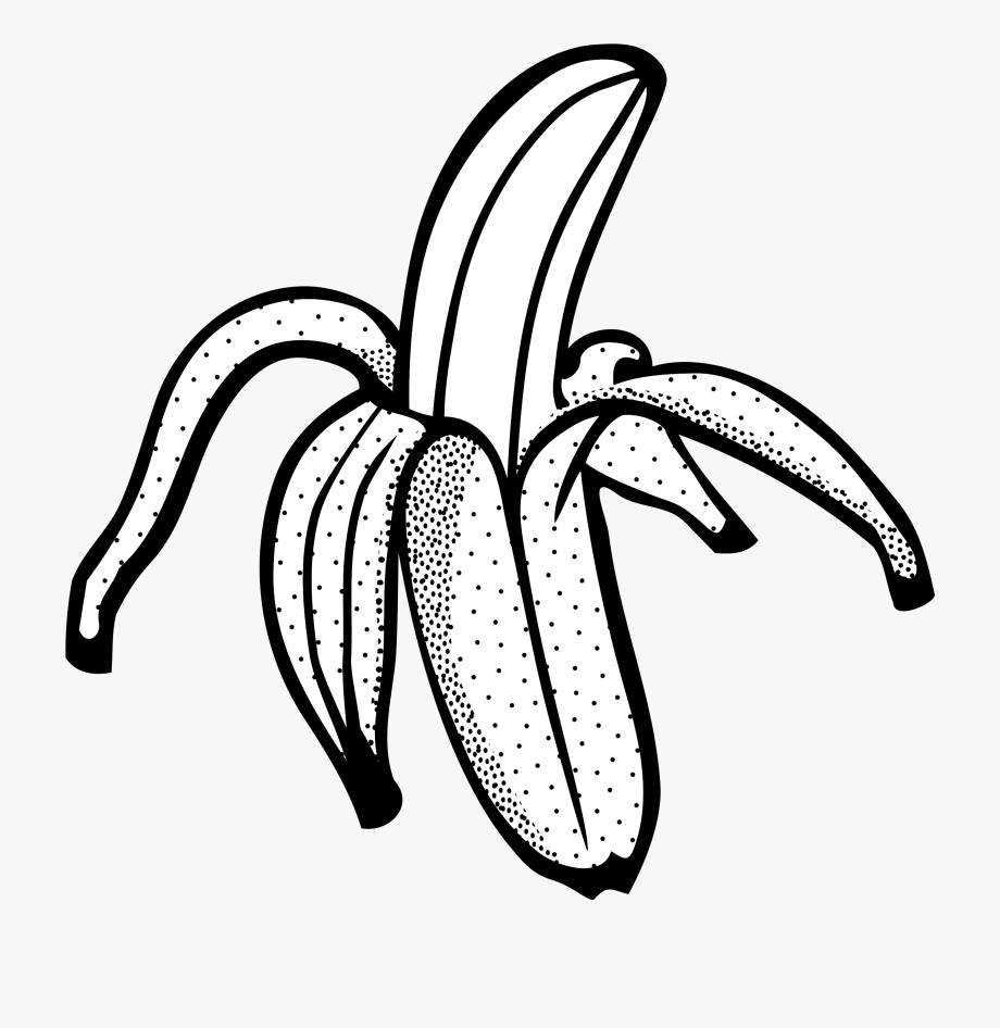 Banna clipart black and white transparent download Banana Black And White Clipart - Black And White Clip Art Banana ... transparent download