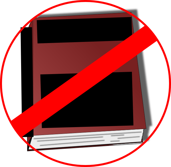 Banned book clipart