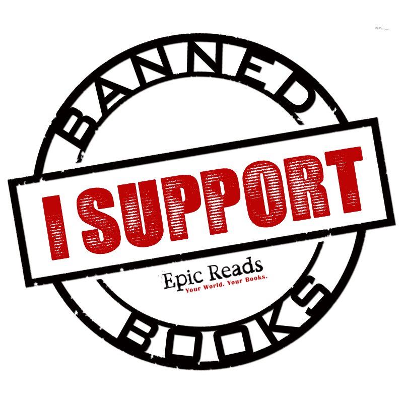 Banned books clipart banner royalty free Banned Books Week | Epic Reads Blog banner royalty free