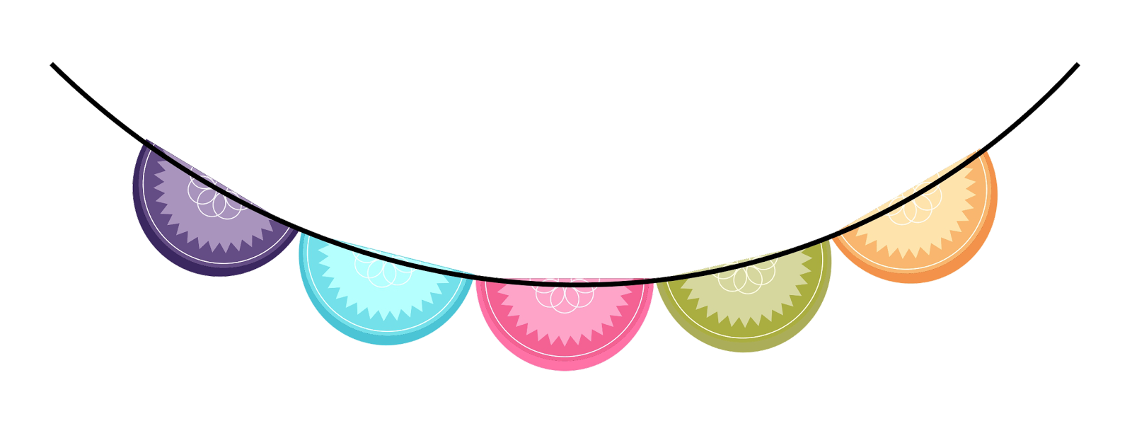 Circle bunting clipart svg royalty free stock Bunting Border Clipart | Free download best Bunting Border Clipart ... svg royalty free stock