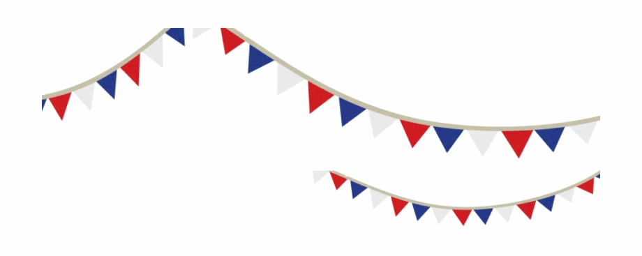 Free red white and blue banner clipart free stock Independence Day Flag - Red White And Blue Bunting Clip Art Free PNG ... free stock