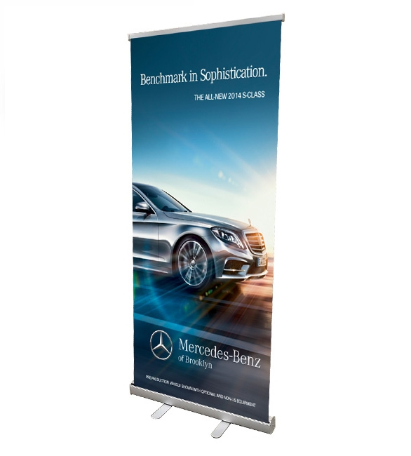 Banner stand clipart svg royalty free stock Retractable Roll Up Banner Stand 33\