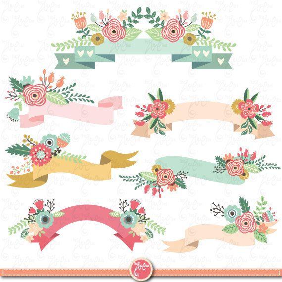 Free wedding banner clipart floral vintage rose